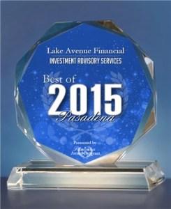 Best of Pasadena 2015 Award